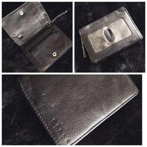 Delle Cose Black Leather Wallet Card Holder
